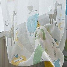 ZYY-Home curtain Gedruckte Gardinen Kinder