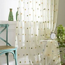 ZYY-Home curtain Kreismuster Stickerei Transparent
