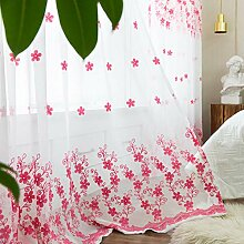 ZYY-Home curtain Stickerei Blumen Voile Vorhang