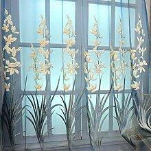 ZYY-Home curtain Stickerei Verdunkelungsvorhänge