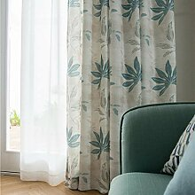 ZYY-Home curtain Verdunklungsgardine Baumwolle