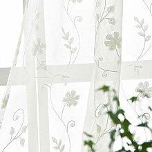 ZYY-Home curtain Weiß Stickerei Transparent