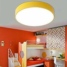 ZYY&LIGHT® Deckenleuchte Einfache Runde Kinder Jungen und Mädchen Augenschutzlampe Raumleuchten Spielplatz Lampen , yellow , C