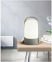 ZYY&LIGHT® LED Tischlampe Glas Dimmen Schreibtischlampe Modern Einfach Schreibtisch Lesen Büro Nachttisch Studie Tischlampe,gray