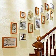 ZYYDXK Weiß Blau Einfache Wand Bilderrahmen Set