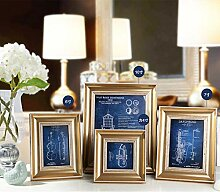 ZYYDXK White Blue Gold Hochzeit Bilderrahmen, Mini