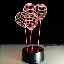Zyyymx Helium Ballons 3D Nachtlicht Luminaria