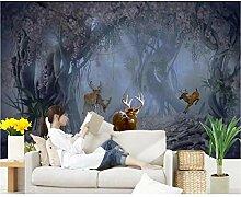 Zyzdsd 3D Tapete Für Wände Heimwerker Elch Tier