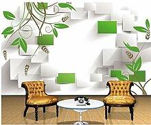 Zyzdsd Tapete 3D Für Raum Grünes Blatt Des