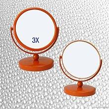 ZYZX Frisiertisch Spiegel Orange