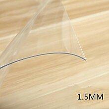 Zzaini 1.5mm Durchsichtige Tischtuch tischwäsche,