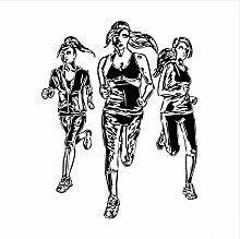Zzdyb Wall Sticker Selbstklebende Drei Frauen