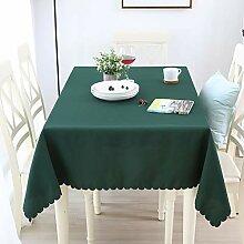 ZZFF Quadrat Polyester Tischdecke, einfarbig