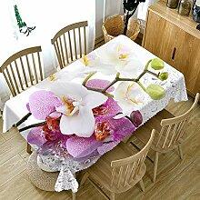 ZZHU Kleine Blume Bedruckte Tischdecke auf dem