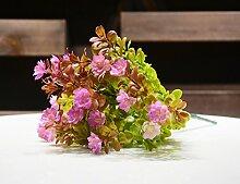 ZZJJWW Simulation Pflanze Gras Hibiskus Blume