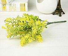 ZZJJWW Simulation Pflanze Künstlich Falsch Grün Grün Interieur Dekoration Simulation Pflanzenwand Pflanze, Gelb