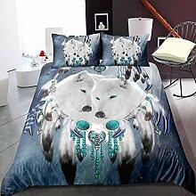 zzkds 3er-Set Bettbezüge aus weicher