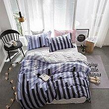zzkds Bettlaken Bettbezug einfach doppelt