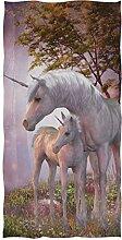 ZZKKO Wald Baum Tier Einhorn Mond Baby Handtuch