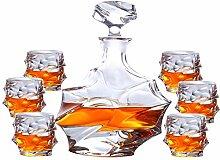 ZZKOKO Whiskey-Dekanter-Set, 7-teiliges