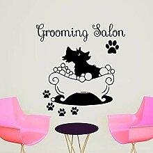 zzlfn3lv Abnehmbare tapete Grooming Salon Vinyl
