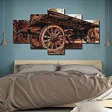 zzlfn3lv Alte Holz Roller Leinwand Malerei