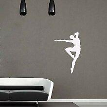 zzlfn3lv Man Dancing Silhouette Vinyl wandkunst