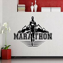 zzlfn3lv Marathon Läufer Wandtattoos Joggen