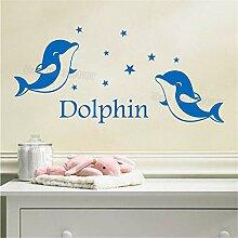 zzlfn3lv Vinyl Aufkleber Tiere Wort Dolphin