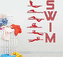 zzlfn3lv Wassersport Schwimmen Muster Vinyl