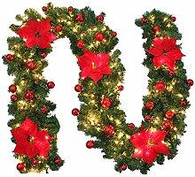 ZZM Weihnachtsgirlande mit beleuchtetem