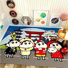 zzqiao Langer Teppich Kinderzimmer Netter Anime