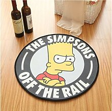 zzqiao Runder Teppich Cute Cartoon Simpson