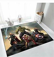 zzqiao Teppich Marvel Carpet Avengers Usa Kapitän