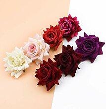 ZZQQ 10PCS Silk rote Rosen Braut Zubehör Rest