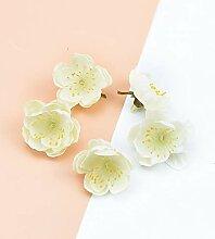ZZQQ 20pcs Silk Kirsche Kopf-Blumen-Wand-Hochzeit