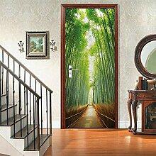 zzqxx Türtapete Selbstklebend Türposter Bambus