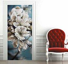 zzqxx Türtapete Selbstklebend Türposter Blumen