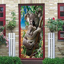 zzqxx Türtapete Selbstklebend Türposter Koala