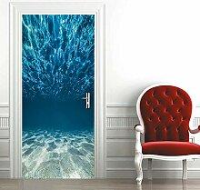 zzqxx Türtapete Selbstklebend Türposter Ozean 3D