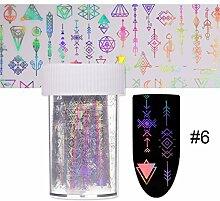 ZZTTTT Nagel/Stern Papier/Bunt/Laser/Magie/Glas