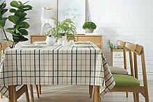 ZZUU Tischdecke Plaid Baumwolle und Leinen
