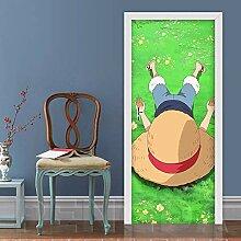 ZZwy Art 3D Türtapete Selbstklebend Türposter -