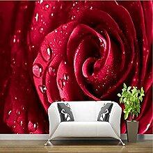 ZZXIAO 3D großes Wandbild große rote Rose