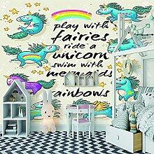 ZZXIAO Cartoon Buchstaben Tiere Tür Wallpaper