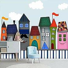 ZZXIAO Cartoon Castle Wallpaper für Kinderzimmer
