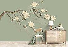 ZZXIAO Handgemalte Plain Magnolia Flower Flying