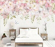 ZZXIAO Idyllische Blumen Seitenwand Tapete Blumen