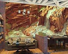 ZZXIAO Panorama Tapete Wandteppich 3D Fließendes