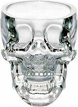 ZZXL Kreative Kristallschädel Totenkopf Glas